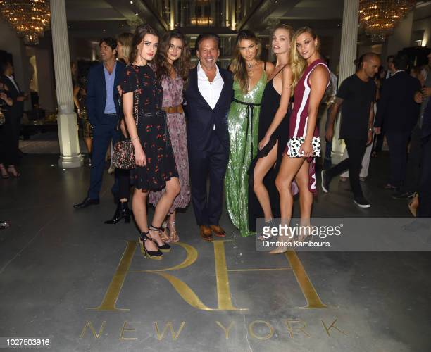 Mackinley Hill Taylor Hill CEO Restoration Hardware Gary G Friedman Bella Hunter and Daphne Groeneveld attend as RH Restoration Hardware celebrates...