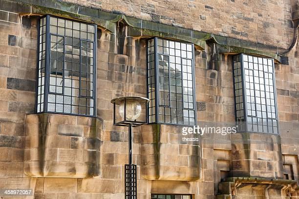 mackintosh windows - glasgow art school - theasis stock pictures, royalty-free photos & images