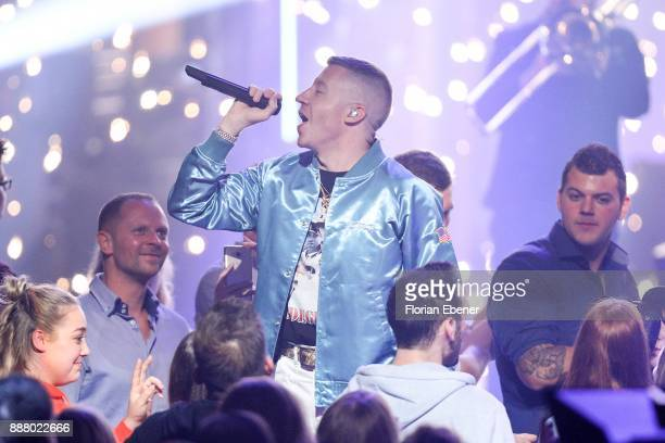 Macklemore aka Benjamin Hammond Haggerty performs on stage during the 1Live Krone at Jahrhunderthalle on December 7 2017 in Bochum Germany