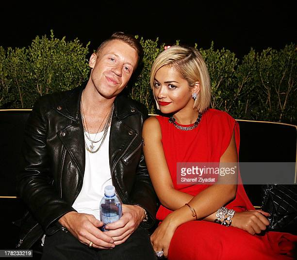 Macklemore and Rita Ora attend the 2013 VMA After Party at PhD on August 25 2013 in New York City