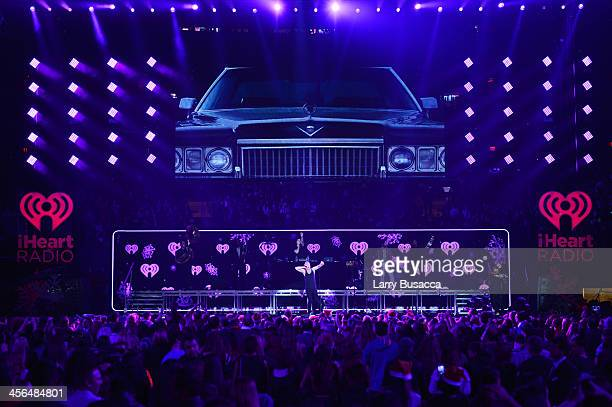 Macklemore and Ryan Lewis perform onstage during Z100's Jingle Ball 2013 presented by Aeropostale at Madison Square Garden on December 13 2013 in New...