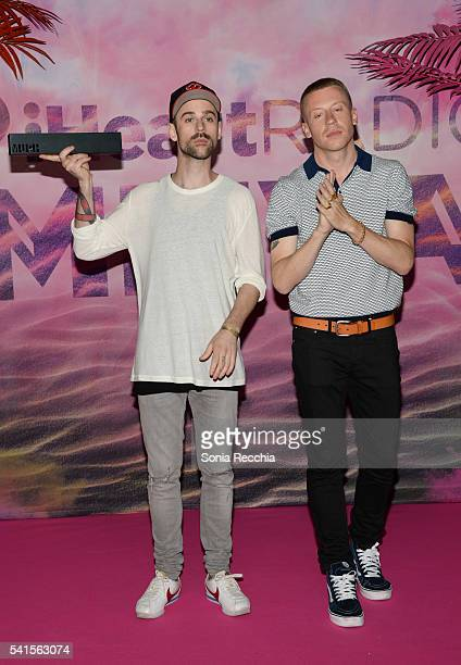 Macklemore and Ryan Lewis pose in the press room at the 2016 iHeartRADIO MuchMusic Video Awards at MuchMusic HQ on June 19 2016 in Toronto Canada