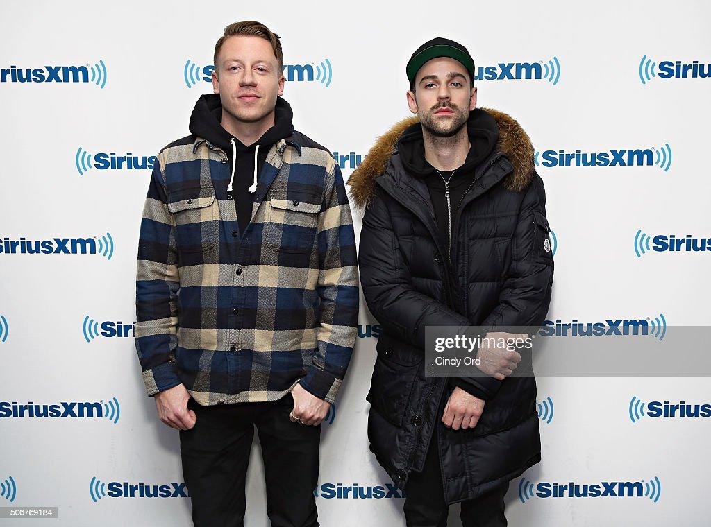 Macklemore and Ryan Lewis visit the SiriusXM Studios on January 25, 2016 in New York City.