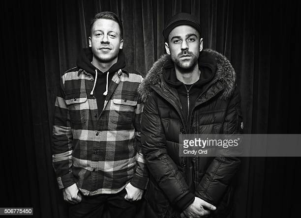Macklemore and Ryan Lewis visit the SiriusXM Studios on January 25 2016 in New York City