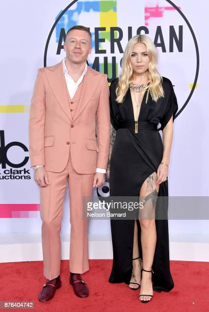 Macklemore and Skylar Grey attend the 2017 American Music Awards at Microsoft Theater on November 19 2017 in Los Angeles California