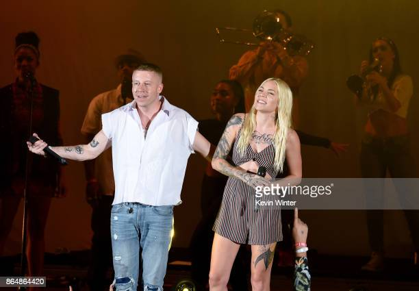 Macklemore and Skylar Grey perform onstage at CBS RADIO's We Can Survive 2017 at The Hollywood Bowl on October 21 2017 in Los Angeles California