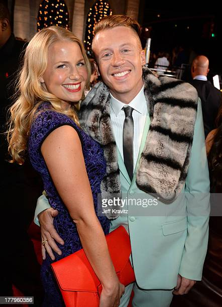 Macklemore and Tricia Davis attend the 2013 MTV Video Music Awards at the Barclays Center on August 25 2013 in the Brooklyn borough of New York City