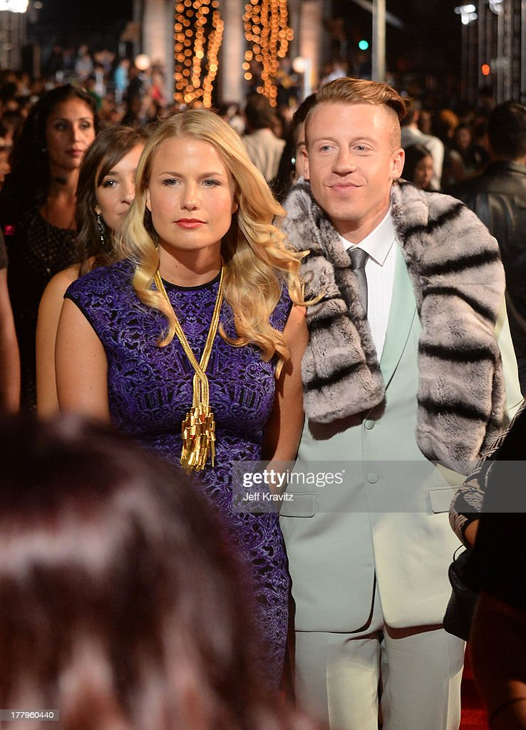 Macklemore and Tricia Davis attend the 2013 MTV Video Music Awards at the Barclays Center on August 25, 2013 in the Brooklyn borough of New York City.