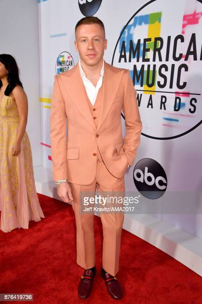 Macklemore attends the 2017 American Music Awards at Microsoft Theater on November 19 2017 in Los Angeles California