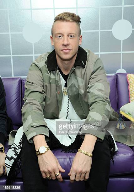 """Macklemore backstage at BET's """"106 & Park"""" at BET Studios on May 20, 2013 in New York City."""