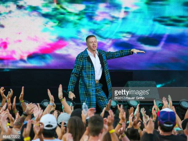 Macklemore is seen performing at 'Jimmy Kimmel Live' on September 26 2017 in Los Angeles California