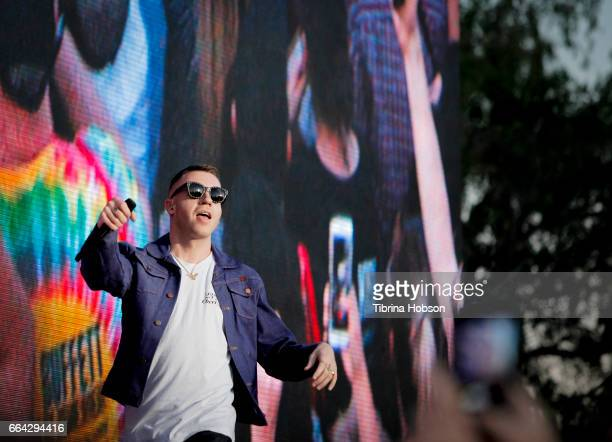 Macklemore of Macklemore and Ryan Lewis performs at the March Madness Music Festival on April 2, 2017 in Margaret T. Hance Park in Phoenix, Arizona.
