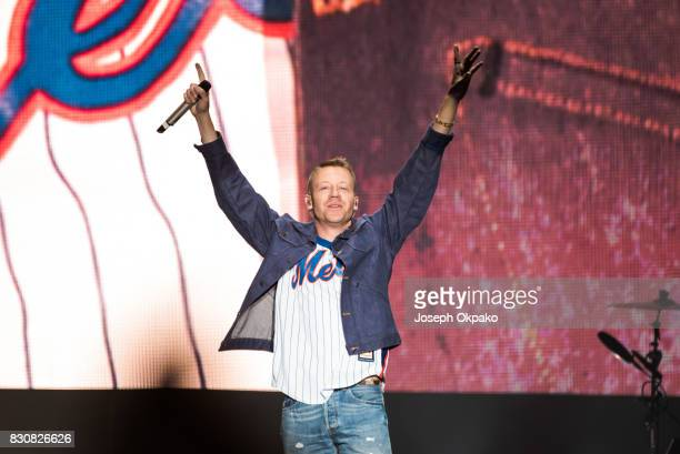 Macklemore of Macklemore and Ryan Lewis performs on Day 4 of Sziget Festival 2017 on August 12 2017 in Budapest Hungary