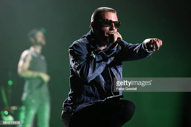 Macklemore of Macklemore Ryan Lewis performs at Vector Arena on July 28 2016 in Auckland New Zealand