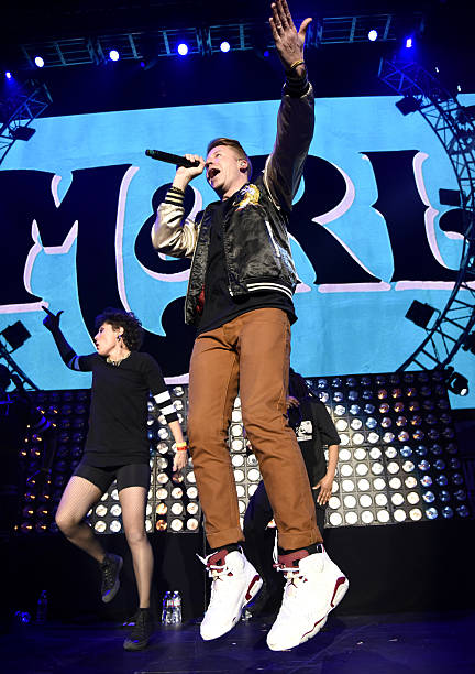 macklemore of macklemore ryan lewis performs during power 106 cali christmas at the forum on