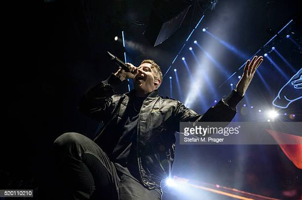 Macklemore performs at Olympiahalle on April 07 2016 in Munich Germany