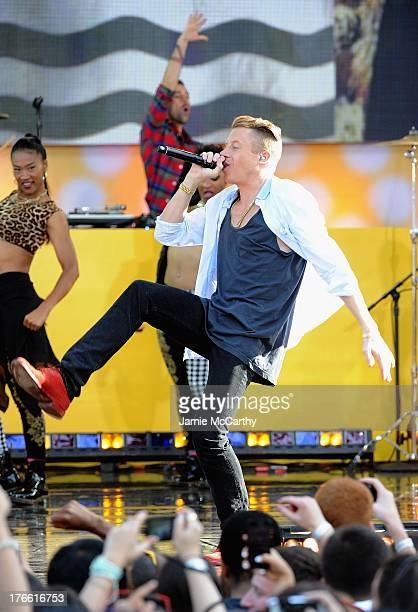 Macklemore performs at Rumsey Playfield on August 16 2013 in New York City