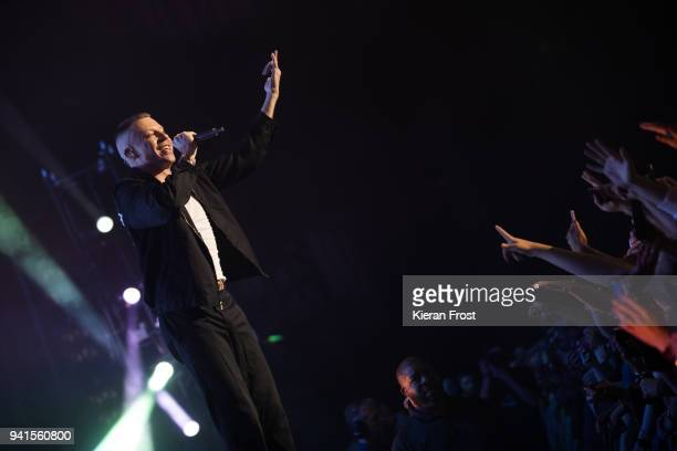 Macklemore performs at the 3 Arena on April 3, 2018 in Dublin, Ireland.