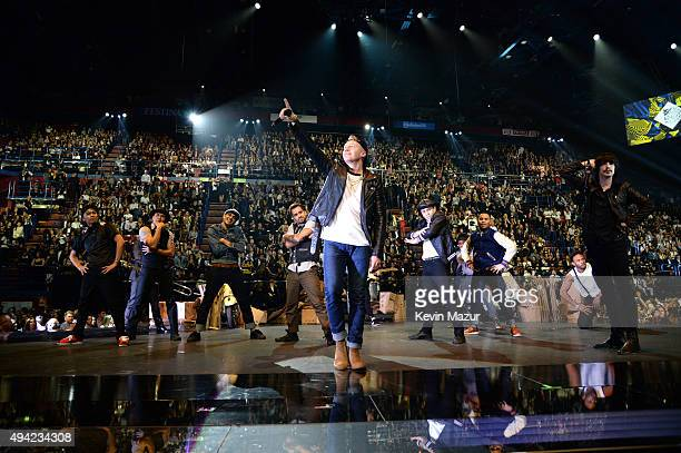Macklemore performs at the MTV EMA's 2015 at Mediolanum Forum on October 25, 2015 in Milan, Italy.