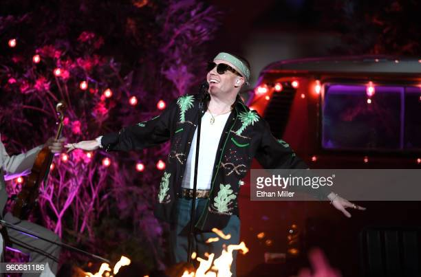 Macklemore performs during the 2018 Billboard Music Awards at Toshiba Plaza on May 19 2018 in Las Vegas Nevada