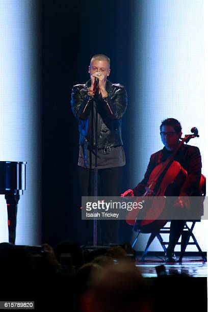 Macklemore performs for We Day Toronto at Air Canada Centre on October 19 2016 in Toronto Canada