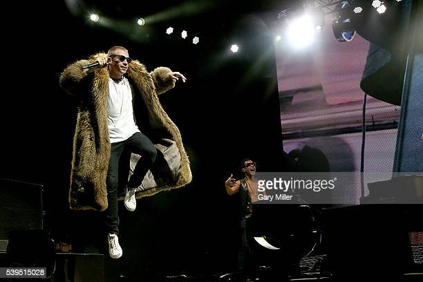 Macklemore performs in concert during the third day of the Bonnaroo Muic and Arts Festival on June 11 2016 in Manchester Tennessee