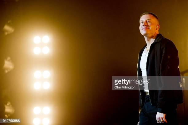 Macklemore performs on stage at O2 Academy Brixton on April 6 2018 in London England