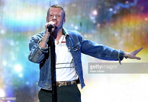Macklemore performs onstage during the 2017 iHeartRadio Music Festival at TMobile Arena on September 23 2017 in Las Vegas Nevada