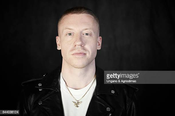 Macklemore poses for a portrait at Logo's 'Trailblazer Honors' on June 23 in the Cathedral of St John the Divine in New York City
