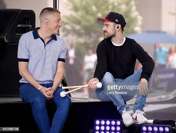 "Macklemore & Ryan Lewis speak onstage at NBC's ""Today"" at Rockefeller Plaza on June 23, 2016 in New York City."