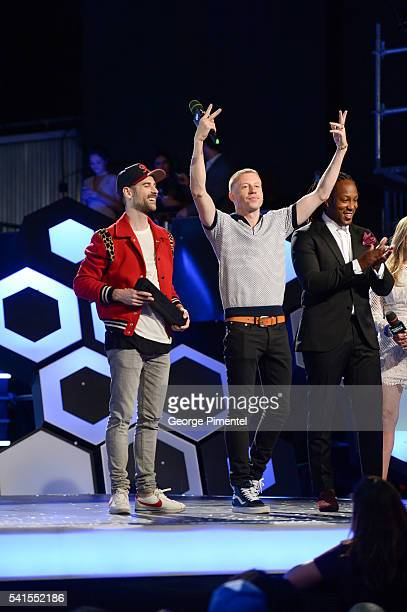 Macklemore Ryan Lewis win International Video of the Year at the 2016 iHeartRADIO MuchMusic Video Awards at MuchMusic HQ on June 19 2016 in Toronto...