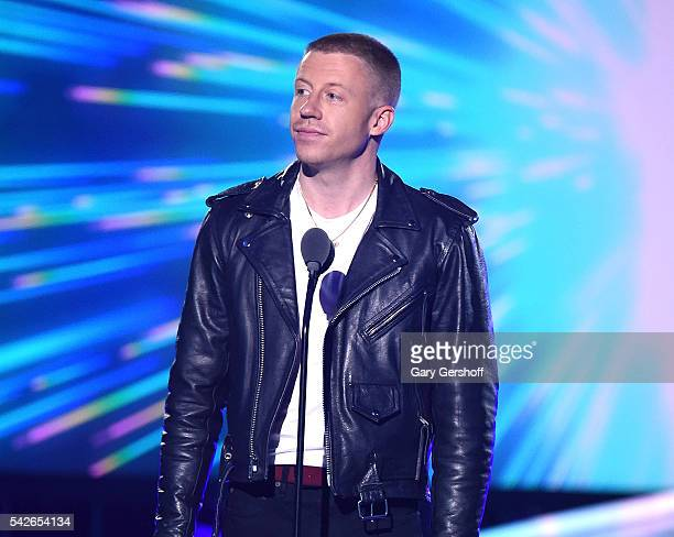 Macklemore speaks at the 2016 Logo's Trailblazer Honors at Cathedral of St John the Divine on June 23 2016 in New York City