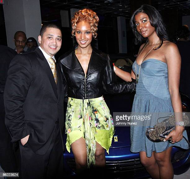 Macky Dancy Olivia and Briana Bigham attend the Black Sports Agent Association's 10th anniversary Pro Football Draft event at the DancyPower...