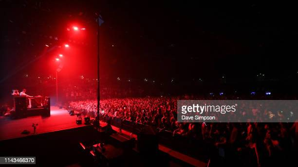 Macky Gee performs at Spark Arena on April 18 2019 in Auckland New Zealand