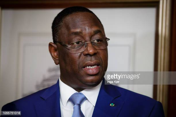 Macky Sall President of Senegal captured on October 30 2018 in Berlin Germany