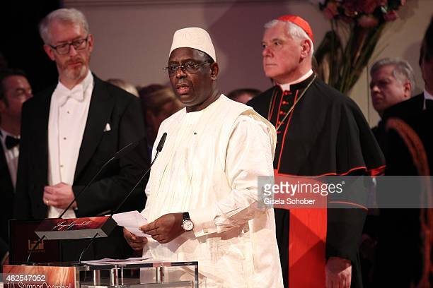 Macky Sall president of Senegal during the Semper Opera Ball 2015 at Semperoper on January 30 2015 in Dresden Germany