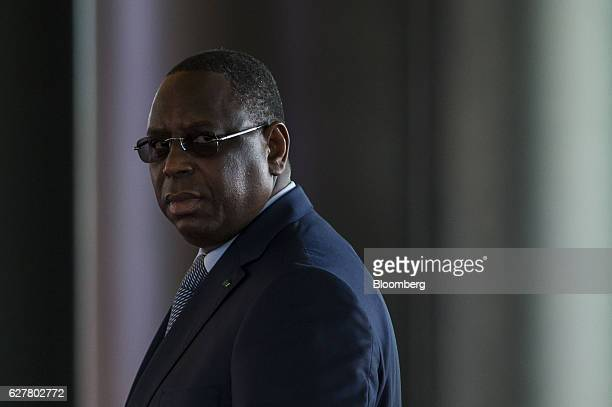 Macky Sall Senegal's president arrives for the International Forum on Peace and Security In Africa in Dakar Senegal on Monday Dec 5 2016 The peace...