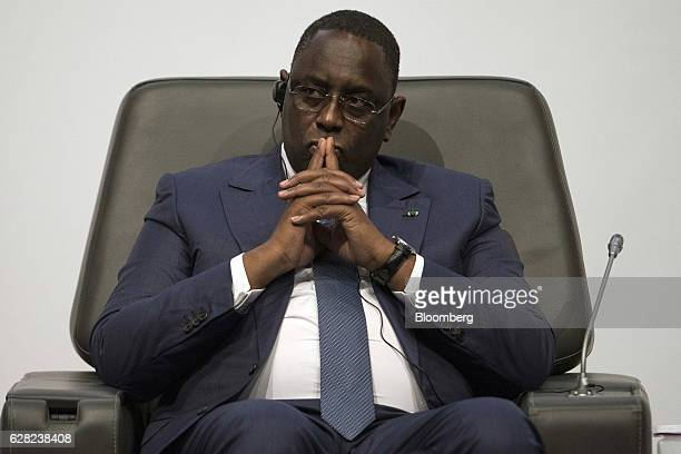 Macky Sall Senegal's president pauses during the International Forum on Peace and Security In Africa in Dakar Senegal on Tuesday Dec 6 2016 The peace...