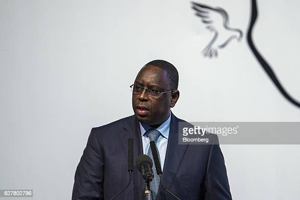 Macky Sall Senegal's president speaks during the International Forum on Peace and Security In Africa in Dakar Senegal on Monday Dec 5 2016 The peace...