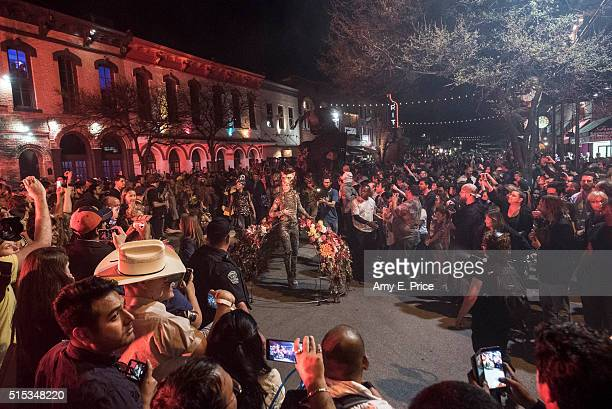 Macnas Presents PopUp Theatre Spectacle on 6th Street sponsored by IDA Ireland during SXSW on March 13 2016 in Austin Texas
