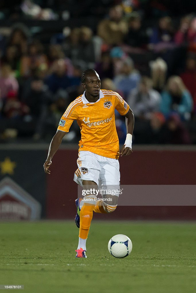 Macoumba Kandji of the Houston Dynamo in action against the Colorado