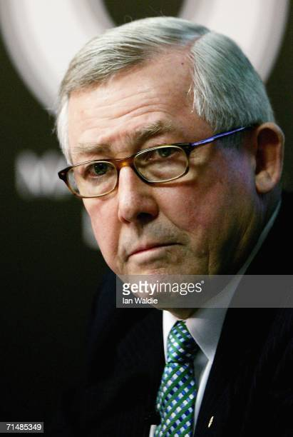 Macquarie Bank Chairman David Clarke holds a press briefing prior to the company's Annual General Meeting July 20, 2006 in Sydney, Australia....