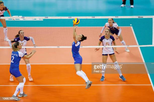 Macris Carneiro of Minas Tenis Clube in action during 2018 FIVB Women's Club World Championship Minas v Volero at Olympic Sports Center on December 4...