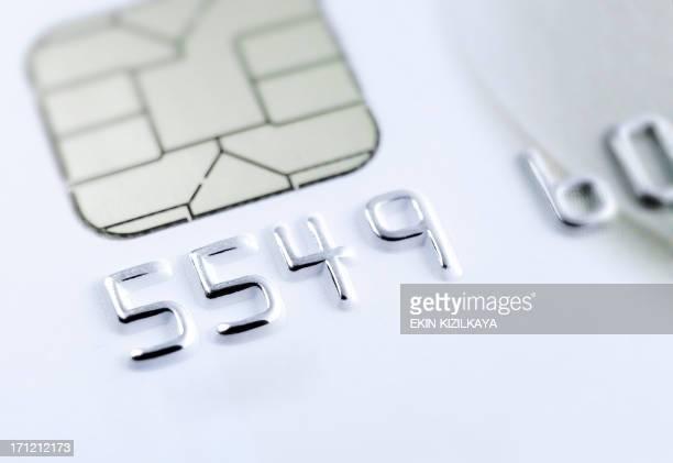 Macro Credit card chip