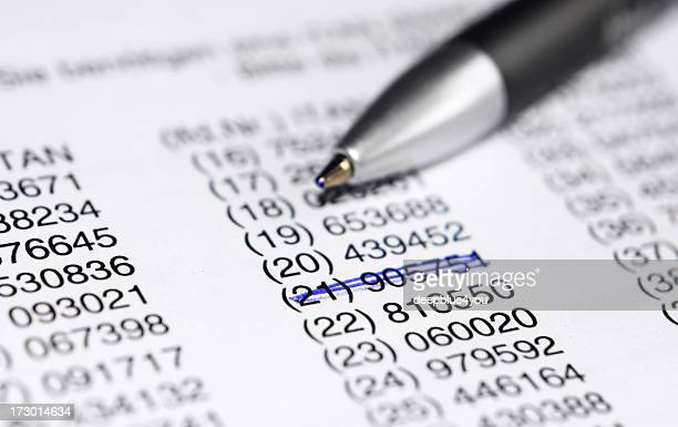 Makro von einem Stift Leg dich auf eine Liste