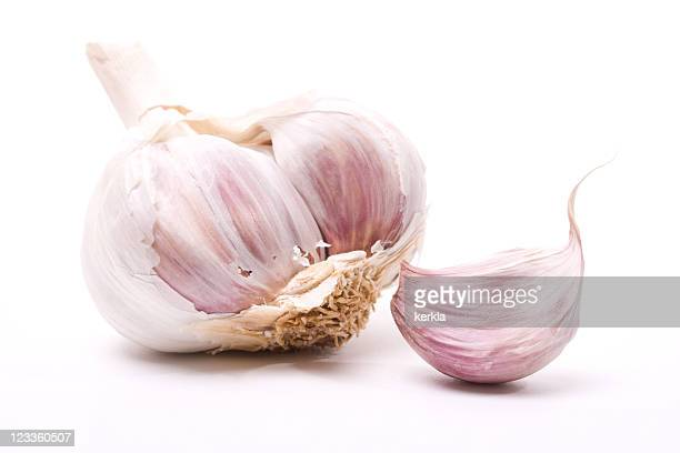 Macro of garlic clove
