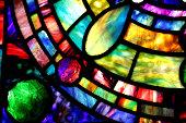 Macro of Tiffany Stained Glass Window