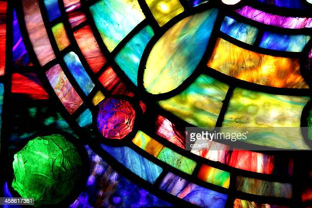 macro of tiffany stained glass window - stained glass stock photos and pictures