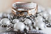 Macro photo of wedding rings