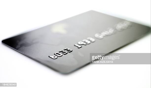 macro shoot of a credit card.